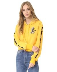 Pam & Gela | Yellow Sweatshirt With Eagle | Lyst