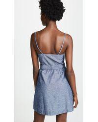 Madewell - Blue Chambray Cutout Cami Mini Dress - Lyst