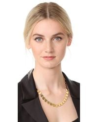 Elizabeth and James | Metallic Goldie Necklace | Lyst
