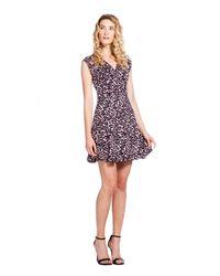 Rebecca Taylor | Multicolor Lynx V-neck Flare Dress | Lyst