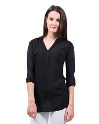 Splendid | Shirting Top In Black | Lyst