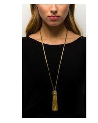 Rachel Zoe - Metallic Olivia Tassel Necklace - Lyst