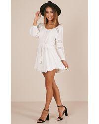 Showpo - In The Past Dress In White - Lyst
