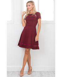 Showpo - Red Take Note Dress In Wine - Lyst