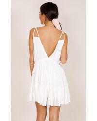 Showpo - The Way You Are Dress In White - Lyst