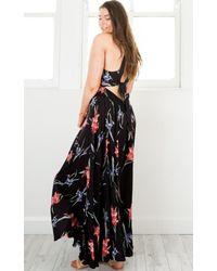 Showpo - Run Alone Maxi Dress In Black Tropical Floral - Lyst