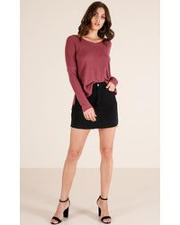Showpo - Multicolor Layered Up Top In Wine - Lyst