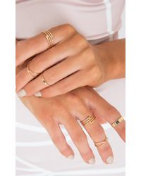 Showpo - Metallic Criss Crossed Ring Set In Gold - Lyst