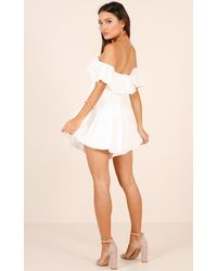 Showpo - All My Life Playsuit In White - Lyst