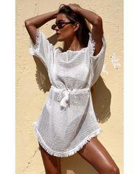 Showpo - White Maldives Kaftan Dress - Lyst
