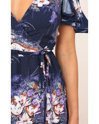 Showpo - Blue In The End Maxi Dress In Navy Floral - Lyst