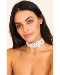 Showpo - Multicolor Shed A Light Choker In Silver - Lyst