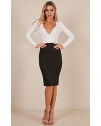 Showpo - Claim It Back Skirt In Black - Lyst