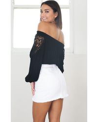 Showpo - Nearly There Crop Top In Black - Lyst