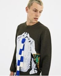 J.W. Anderson - Multicolor Trompe Loeil Shirt And Tie Sweater for Men - Lyst