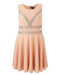 Simply Be - Multicolor Lovedrobe Embellished Skater Dress - Lyst