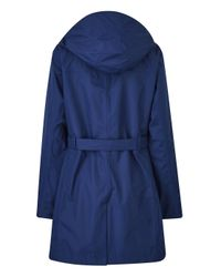 Simply Be - Blue Snowdonia Tie Belt Mac - Lyst