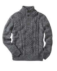 Simply Be - Gray Joe Browns Fabulous Funnel Cable Knit Jumper for Men - Lyst