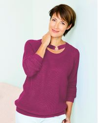 Simply Be - Purple O-ring Sweater - Lyst