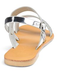Simply Be - Metallic Jade Two Strap Sandals - Lyst