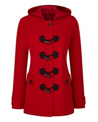 Simply Be - Red Duffle Coat - Lyst
