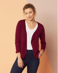 Simply Be - Purple Waterfall Shrug - Lyst