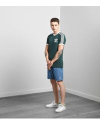 Adidas Originals - Green California Short Sleeve T-shirt for Men - Lyst