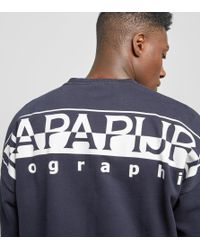 Napapijri - Blue Badstow Crew Jumper for Men - Lyst