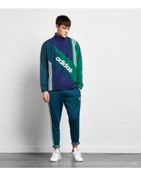 Adidas Originals | Blue Linear Windbreaker Jacket - Size? Exclusive for Men | Lyst