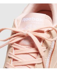 Reebok - Pink Classic Peach Leather Trainers - Lyst