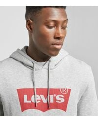 Levi's - Gray Batwing Logo Hoodie for Men - Lyst