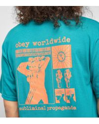 Obey - Green Subliminal Propaganda T-shirt for Men - Lyst