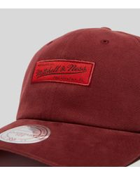 Mitchell & Ness - Red Haze Strapback for Men - Lyst