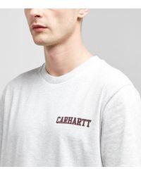 Carhartt WIP - Gray Script Short Sleeve T-shirt for Men - Lyst