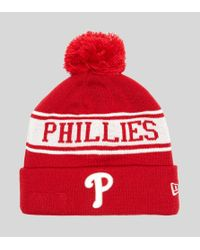 11063b94af5969 KTZ Philadelphia Phillies Beanie - Size? Exclusive in Red for Men - Lyst