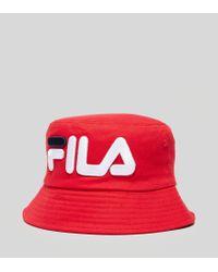 96932157a3e Lyst - Fila Beefie Bucket Hat in Red for Men