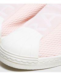Adidas Originals | Pink Superstar Bw35 Slip-on Women's | Lyst