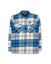 Patagonia | Blue Insulated Fjord Flannel Jacket for Men | Lyst
