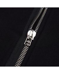Helmut Lang - Black Overlap Zip Hooded Sweatshirt for Men - Lyst