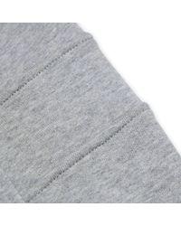 Comme des Garçons - Gray Cotton Jersey Hooded Sweatshirt for Men - Lyst