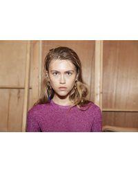 Solace London | Skyler Earring Silver Blue | Lyst