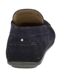 HUGO - Blue Dandy Mocc Shoes for Men - Lyst