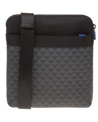 Emporio Armani - Black Eagle Print Cross Body Bag for Men - Lyst