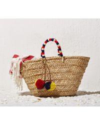 Soludos - Brown Kayu Red Navy St. Tropez Bag - Lyst