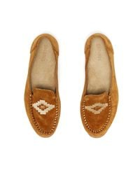 Soludos - Multicolor Embroidered Suede Loafers - Lyst