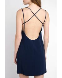 South Moon Under - Blue Bare Backless Slip Dress - Lyst