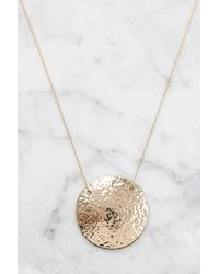 South Moon Under - Metallic Hadley Hammered Disc Necklace - Lyst