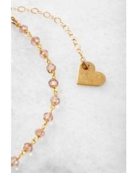 South Moon Under - Pink Beaded Rosary Necklace With Spike Charm - Lyst
