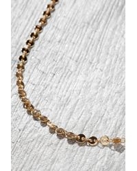 South Moon Under - Metallic Sequin Chain Necklace - Lyst