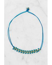 South Moon Under - Herringbone Blue Bracelet - Lyst